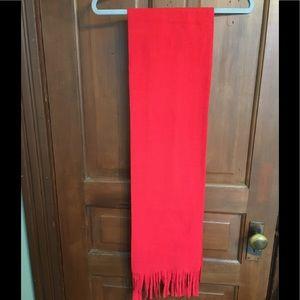 Accessories - Warm Red fleece scarf